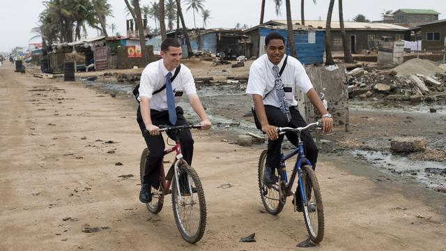Missionaries on bikes in Ghana
